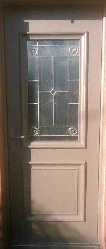 Porte d'entrée aluminium bronze Akimel