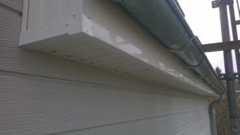 Lambris de sous toiture PVC blanc + zinc