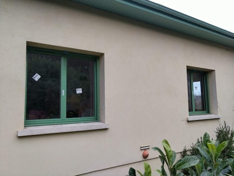 Fenêtre alu laqué vert RAL 6021