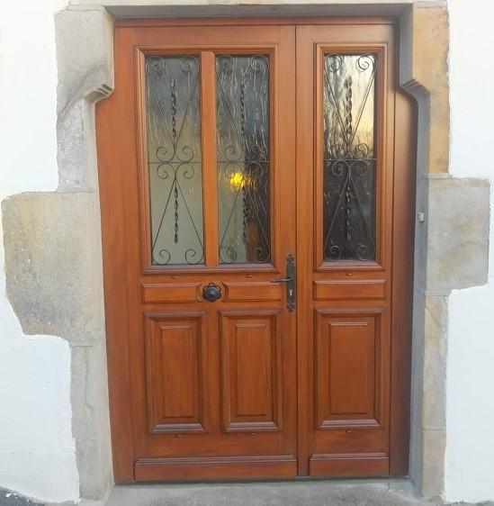 Porte d'entrée tiercée bois